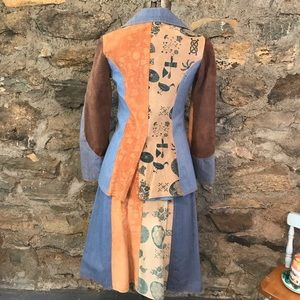 Vintage Denim and Suede Blazer and Skirt size sm
